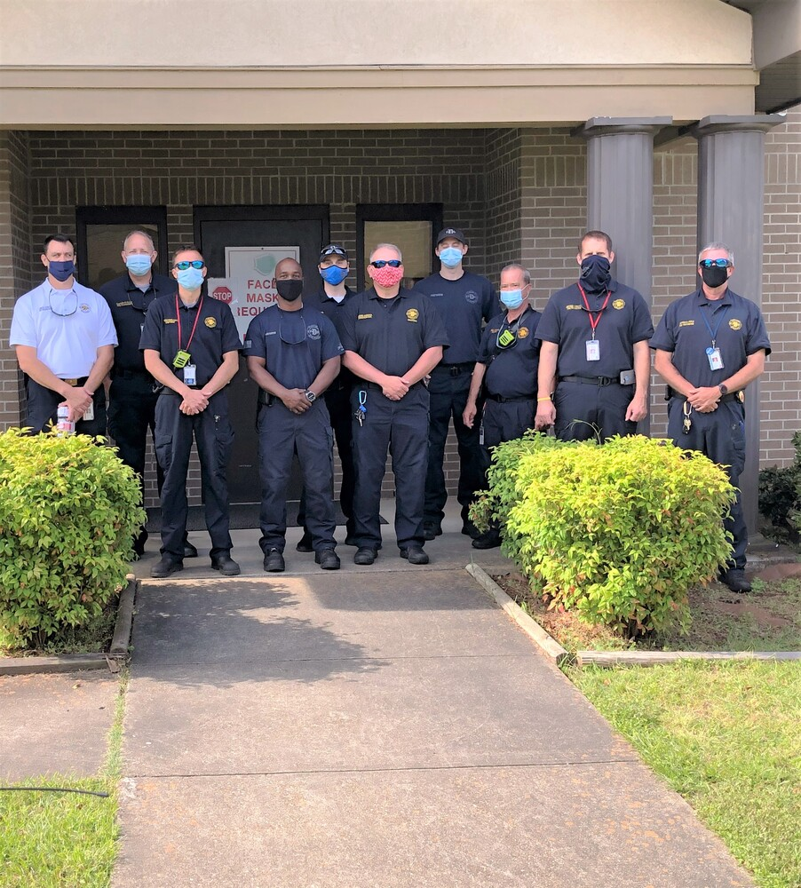 Dothan Fire Department grouped together for a picture