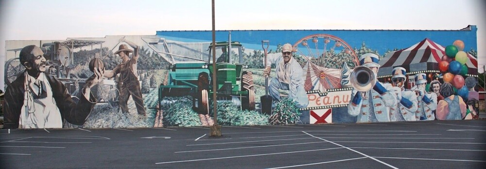A Salute to the Peanut Industry Mural